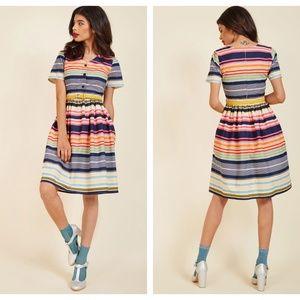 Yumi Striped Modcloth CaptivateinColor Dress